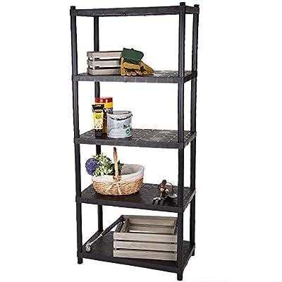 Keter Universal Shelving Racking Storage Unit - 5 Shelf Plastic 174cm