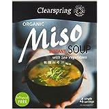 Clearspring Miso Orgánico Sopa De Verduras Y Mar 4 X 10g (Paquete de 6)