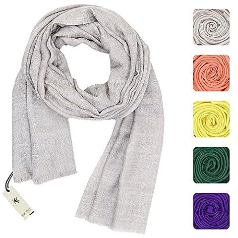 KASHFAB Kashmir Womens Mens Winter Fashion Paisely Scarf, Jacquard Wool Silk Stole, Soft Long Shawl, Warm Pashmina