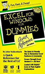 Excel for Windows for Dummies Quick Reference by John Walkenbach (1994-03-02)