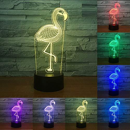 Halogen-downlight-kit (3D StimmungslichterBunte schwarze Fernbedienung Touch Tier Vogel Nachtlicht LED 3D Illusion 7 Farbwechsel Raum dekorative Lampe Kind Kind Baby Kit Schreibtisch Lampe Nacht Pferd Geschenk, J)