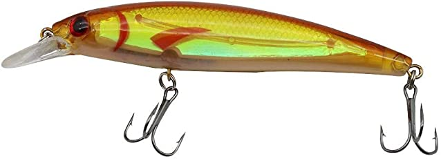 Zibuyu Laser Long Shot Minnow Hard Fishing Lure 3D Eyes Crankbait W/Treble Hook