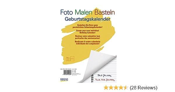 Foto Malen Basteln Weiß Format A4 Geburtstags Kalender