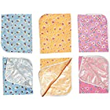 """Cloudaby Cotton Infant Waterproof Quick Dry Soft Cotton Bed Protector Mattress Pads Baby Dry Sheet For New Born Babies, Small (24"""" X 20"""") (Pack Of 2)"""