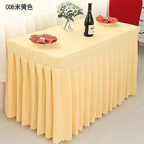 Office Table Cloth, Jupe de table de réunion personnalisés, l'hôtel, Tapis de table, Table de présence montrent robe chiffon coloré, Cream-Colored,capot table,60*150*75cm