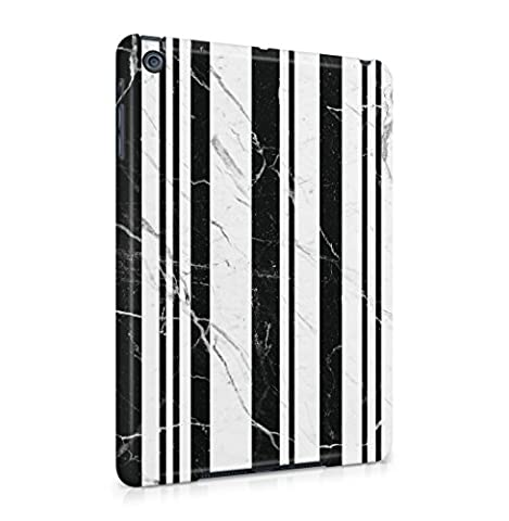 Black Onyx & White Marble Stone Lines Hard Thin Plastic Phone Case Cover For iPad Mini 1