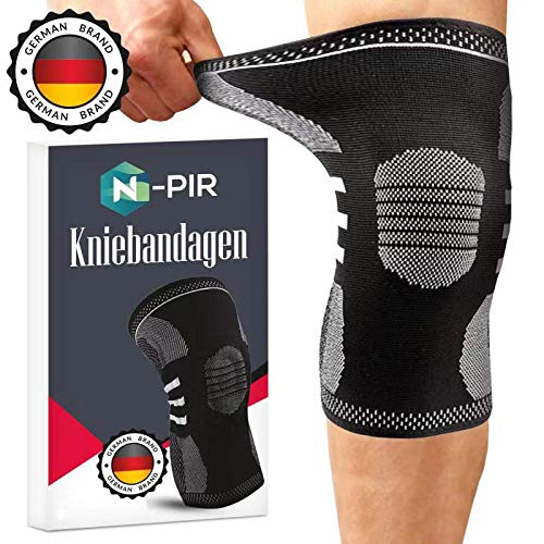 N-PIR Kniebandage + Knieschoner für Sport, Beruf, Freizeit - Damen/Männer - Knie-Stütze