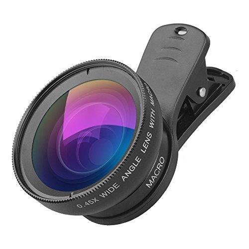 Selling Handy-Kamera-Objektiv-Kit, 0.45x Universal-Super-Weitwinkel 12.5X Makro-SLR-Spezialeffekte Externe Kamera-Telefonlinse