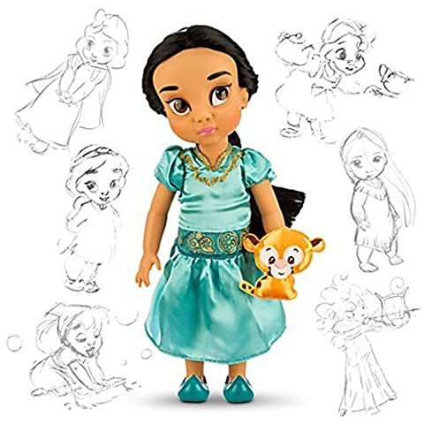 Official Disney Aladdin 38cm Jasmine Animator Toddler Doll With Accessory Raja