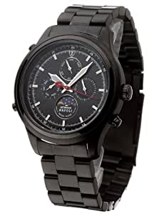 DETOMASO Gents Watch Napoli Moon Phases Black Stainless Steel SM1628C-BK