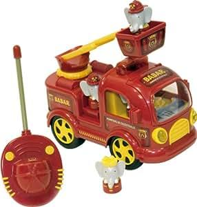 Lansay - 16116 - Jouet 1er âge - Le Camion Pompier Rc De Babar