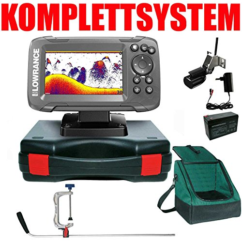 Lowrance Echolot GPS Portabel Profi Edition Plus Komplettsystem - Hook2 4X GPS Frequenz-sonar-fishfinder