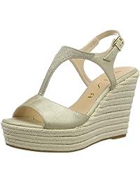 Suchergebnis auf Amazon.de für  leder keil sandalette - Schnalle ... 697c37bd7a