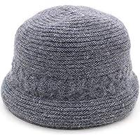 Sombrero - Otoño e Invierno de Mediana Edad Sombrero Cuenca Sombrero Pesca/Sombrero / Viejo Sombrero Invierno de Mediana Edad Madre Sombrero + Bufanda (opción (Color : F-Hat Scarf)