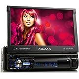 """XOMAX XM-VRSU720BT Autoradio mit Bildschirm, Bluetooth Freisprecheinrichtung, 7""""/18cm Touchscreen Display, USB, SD, MP3, 3 Beleuchtungsfarben einstellbar: Rot, Blau, Pink, AUX-IN, Single Din 1DIN Standard Einbaugröße"""
