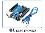 #8: Arduino Uno R3 ATmega328P ATMEGA16U2 Compatible with USB Cable by OL ELECTRONICS