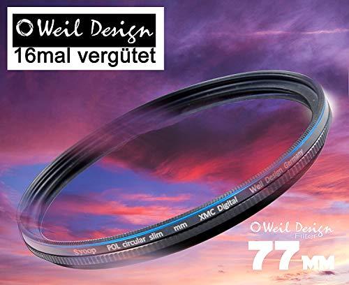 Polfilter POL 77 circular slim XMC Digital Weil Design Germany SYOOP * Kräftigere Farben * mit Frontgewinde, * 16 fach XMC vergütet * inkl. Filterbox * zirkulare 52, 55, 58, 62, 67, 72, 77, 82 mm (77)