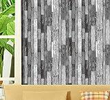 KYKDY papel de parede 3d Holz Streifen Tapete Planke Papier Veranda Hintergrund Gehweg Hotel Restaurant 3d Tapetenrolle, Modell 1001,10m * 0,53m = 5,3 Quadratmeter