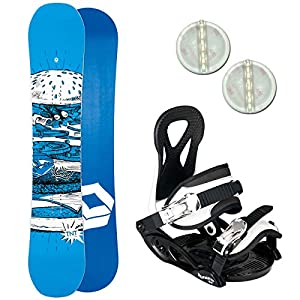 Ftwo TNT Kinder Snowboard Set 2019~130 cm + ELFGEN JUNIOR BINDUNG + PAD