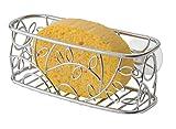 mDesign portaspugna per cucina da appender - mensola per lavabo da appoggio - mensola per lavabo per spugne, sapone, ecc.
