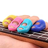 Oyedens 4PCS Silicone Guitar Fingertip Protectors Finger Guards for Ukulele Guitar Accessories (M)