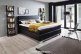 Meise Möbel Boxspringbett Indigo - schwarz - 180x200 cm - H3 - inkl. Topper - 7-Zonen-Taschenfederkernmatratze