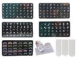 #3: Lifestyle-You Nail Stamping Kit With 5 Rectangular Image Plates, Silicone Stamper & Scraper & Free Nail Tip Guide Sheet