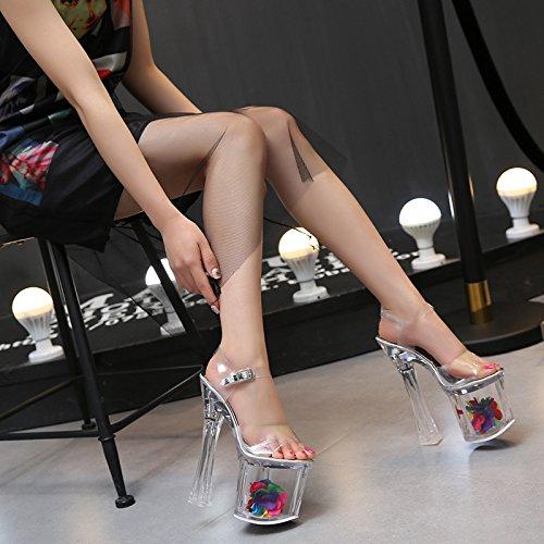 XiaoGao 18 cm hochhackigen schuhe, night - club - prinzessin schuhe modell landebahn, high - heel t - model crystal wedding schuhe. Crystal High Heel