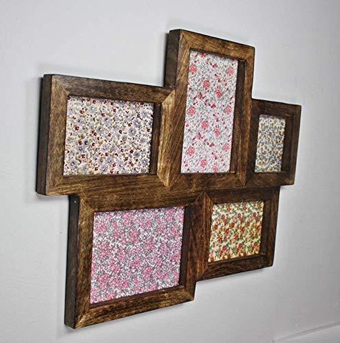 sass & belle Bilderrahmen braun dunkel Holz Wandrahmen Fotorahmen Rahmen Collage