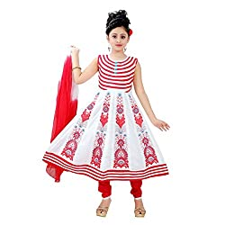 Saarah Red & White Cotton Salwar Suit Set