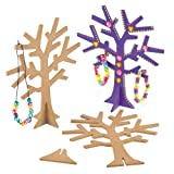 Alberi in legno per bambini da colorare (confezione da 2)
