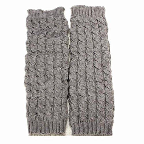 8m WAWO Fashion Knee High Leg Boot Socks Winter Cable Knit Crochet Warmers Leggings for Women Lady Young Teen Girls