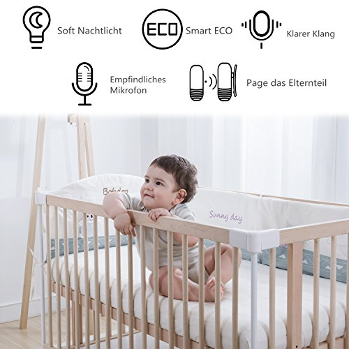 babyphone audio coute b b avec communication bidirectionnelle veilleuse de nuit apaisante. Black Bedroom Furniture Sets. Home Design Ideas