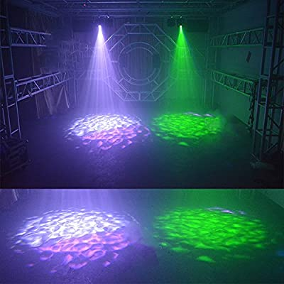 Disco Lights Party Light GEELIGHT DJ Stage Lighting Projector7 Colors Water Ripple Light for Home KTV Birthday Wedding Club Pub Christmas Halloween Parties Club