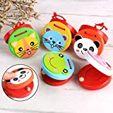 yibenwanligod Cartoon Frosch Panda Tier Kinder Kind Holz Pädagogische Kastagnetten Spielzeug Zufällige Farbe