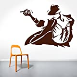 DreamKraft Michael Jackson Wall Sticker For Kids Room |Living Room|Bedroom|Office PVC Vinyl Art Decals( 24X19 Inch)