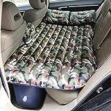 FELICIGG Aufblasbare Matratze Travel Portable Car Air Bett Schlafmatratze mit Beule und Kissen (Pattern : Camouflage Green)