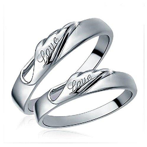 Bishiling Paarepreis Paare Ringe Versilbert Graviert
