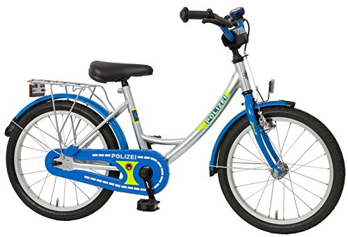Bachtenkirch Kinderfahrrad 18\'\' Polizei Silber-blau RH 31 cm