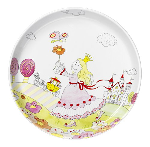 WMF Kindergeschirr Teller PRINZESSIN ANNELI Kinderteller Porzellan spülmaschinengeeignet farb- und - Servierplatte Prinzessin Servierplatten