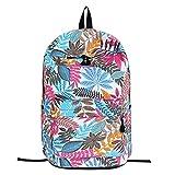 Jungs Mädchen Schultasche, TWBB canvas Schüler Rucksack Blätter Drucken Outdoor Trekking Tasche Schultasche Reißverschluss School Bag