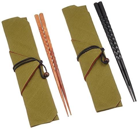 Maruju Paulownia-boxed Kirameki Bashi(for husband and wife)with a chopstick bag by MARUJU
