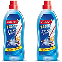 Vileda 1-2 Spray Floor Cleaning Liquid, 750 ml,Transparent,Pack of 2