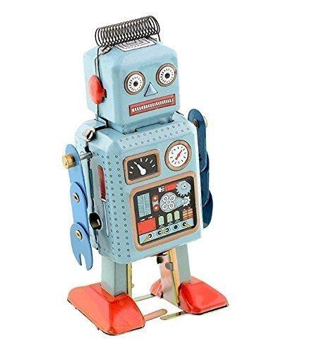 UChic 1 STÜCKE Vintage Mechanische Uhrwerk Wind Up Spielzeug Wandern Radar Roboter Zinn Spielzeug...