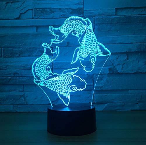 Array 3D Illusion Led Lampe 7 Farbwechsel Nachttisch Atmosphäre Schlaf Nachtlicht Dekor Anime Fan Geschenk ()