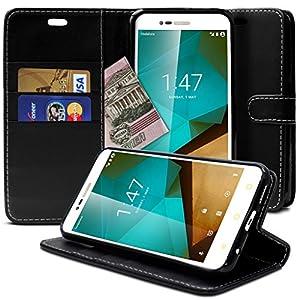 Motorola Moto Z Hülle, Profer [Premium Leder Serie] Schutzhülle PU Leder Flip Tasche mit Integrierten Kartensteckplätzen und Ständer für Lenovo Motorola Moto Z