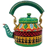 ECHO Hand Painted Aluminum Tea Kettle Pot,Multicolor Tradition Tea Pot/Kettle Art Home And Garden Kitchen And Dining Serve Ware Table Ware Coffee & Tea.