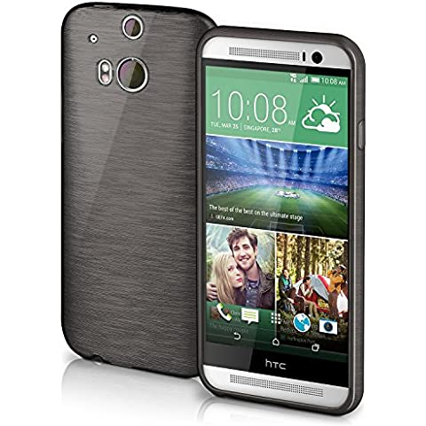 Funda protectora OneFlow para funda HTC One M8 / M8s Carcasa silicona TPU 1,5mm   Accesorios cubierta protección móvil   Funda móvil paragolpes bolso cepillado aluminio diseño en