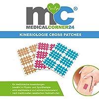 Medicalcorner24® Kinesiologie Gittertape 102 Stück, Cross-Patches, Cross Tape in versch. Größen und Farben, Beige... preisvergleich bei billige-tabletten.eu