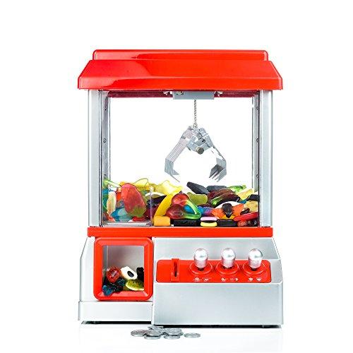 Gadgy Candy Grabber mit Stummschaltungstaste | Süßigkeiten Automat für Zuhause | Greifmaschine | Mini Jahrmarkt Spielautomat